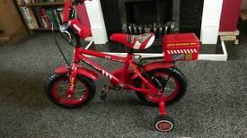 Boys fire chief bike
