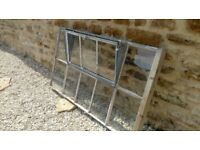 Metal Crittall window removed from listed barn dating back to the eighteenth century.