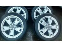 "GENUINE 17"" AUDI A3 SPORT S LINE ALLOY WHEELS, 5 X 112, 8P0601025B,TYRES ARE NO GOOD"