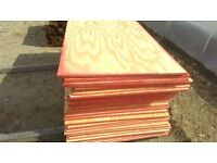 8ft x 4ft x 18mm SHUTTERING PLY/ PLYWOOD PINE FACED SHEETS £19 EACH