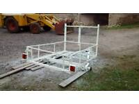 6x4 trailer, recently refurbished, paint, lights, wheel bearings and tanalised timber