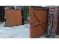 Garden Gates, Soft Wood, 6ft x 6ft each. Hinges and brackets included.