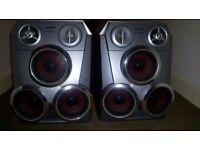 Aiwa rare triple drive speakers