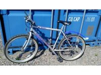 "Man's mountain bike Claud Butler 20"" frame 18 gears, good condition for age. £75.00"