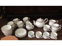 House clearance! 30 pieces of tea pot set in very good cond. I'm selling separately matching plates.