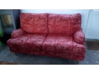 Multi York 2 seat sofa with matching Armchair Must Go