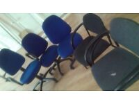 for sale used office chairs (4) and office cupbourd (beisley), very good condition,