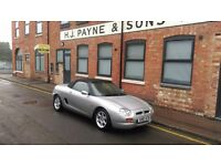1998 MG / MGF 1.8 CONVERTIBLE, 57000k FUTURE CLASSIC MINT CONDITION - MOT TILL OCTOBER 2017