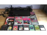 Atari 2600 All black 4 switch 'Darth Vader' Model - Tested with 12 Games