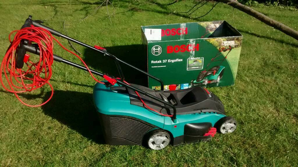 bosch rotak 37 ergoflex electric lawnmower in knaresborough north yorkshire gumtree. Black Bedroom Furniture Sets. Home Design Ideas