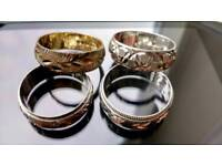 Solid silver rings,