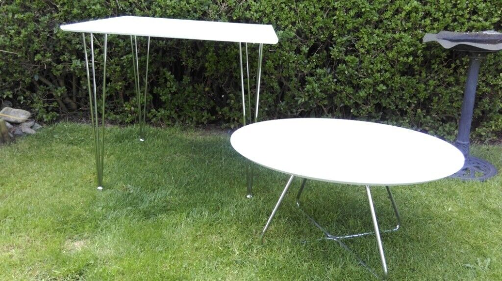 Awesome White Dining And Coffee Table In Elgin Moray Gumtree Machost Co Dining Chair Design Ideas Machostcouk