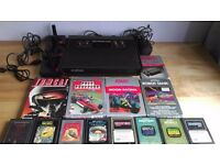 Atari 2600 All black 4 switch 'Darth Vader' Model - Tested with Games