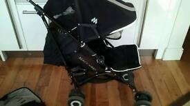 Maclaren black buggy & footmuff