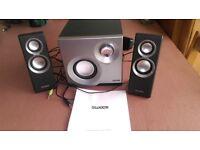 Sweex SP210 2.1 Speaker System, Silver