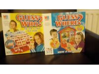Guess Who and Guess Where board games