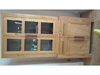 Solid Oak cabinet (dresser) - good storage as bookshelf or for kitchenware