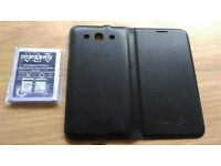 New Samsung S3 battery and used flip case (both official)