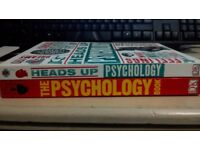 "Two Psychology books - ""Heads Up Psychology"" and ""The Psychology Book"""