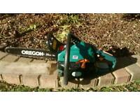 "PETROL CHAINSAW OREGON CHAIN 35CM 14"" STARTS EASILY RUNS WELL 2 STROKE PWR33CCSA"