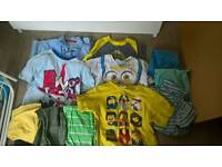 Little boys clothes ranging from 3 to 6 years size wise