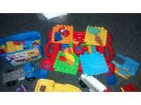 Mega Bloks Play Table with bucket of bricks