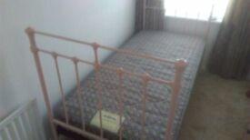vintage style metal frame bed pink for sale
