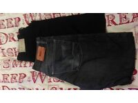 HUGO BOSS MENS DESIGNER JEANS / CHARCOAL GREY / VERY SMART JEANS / COST £110
