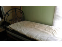 Antique iron single bed