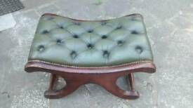 CHESTERFIELD SADDLE SEAT IN BOTTLE GREEN IN GOOD GENERAL CONDTION