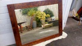 Solid Birch Dark Wood Mirror