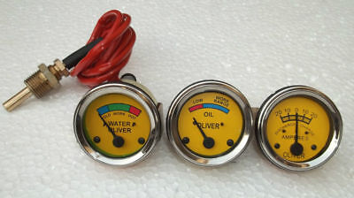 Oliver Tractor Temp Oil Pressure Ampere Gauge Set Super 44 55 66 77 88 440 660