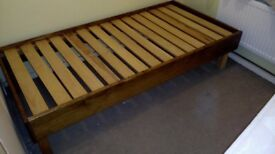 Single bed, wooden