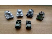 Vintage Matchbox Lesney Products: Battle Kings 1974 Tanks, and Superfast 1976 Jeeps. Made in England