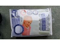 Air wrap mesh for cot or cot bed