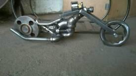 Steampunk industrial motorbike