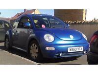 vw beetle w reg (2000) blue