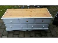 Oak bench drawers