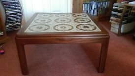 Square tile topped coffee table