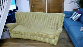 Awesome three seater retro sofa and two matching arm chairs.
