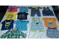 12 item baby boys bundle 0-3 months, summer clothes, shorts t shirts etc