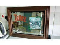 Original Tetley bitter mirror, excellent condition, perfect for your man cave.