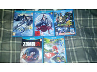 Nintendo Wii U and 5 games