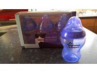 4 x Purple Tommee Tippee Bottles - Brand New