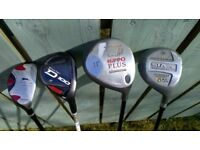 Selection of 4 fairway woods - Slazenger, Wilson Staff, Hippo Plus, Dunlop - Bargain £36
