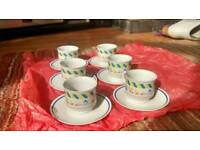 expresso coffee cups and saucers set of 6
