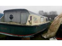 Boat for sale Broads cruiser.40ft +12ft with BMC engine