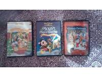 3 Mickey Mouse Christmas Disney DVDs