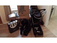 Chicco Urban Pram & Pushchair Travel System in Anthracite, includes car seat isofix