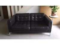 IKEA KARLSFORS/LANDSKRONA TWO SEATER BROWN LEATHER SOFA (I CAN DELIVER TODAY)